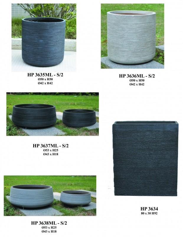 Hortiplast | Pots, vasques, murets, jardinières en fibre de pierre